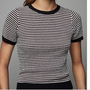 NWT Zara Short Sleeve Waffle Knit Top - Small